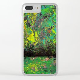 Abstract Distressed #2 Clear iPhone Case