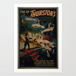 Thurston floating woman Art Print