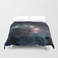 outer space Duvet Covers featuring Outer Space by apgme