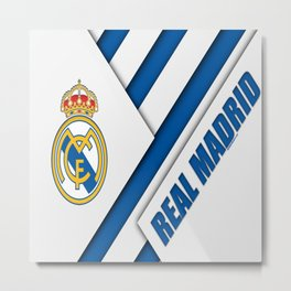 Real Madrid My Best Football Team Metal Print