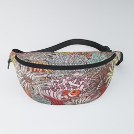 Clown fish and Sea anemones Fanny Pack