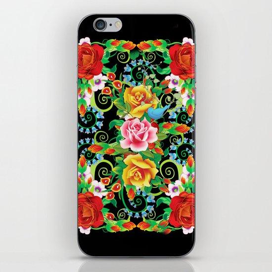 Folkloristic Flowers iPhone & iPod Skin