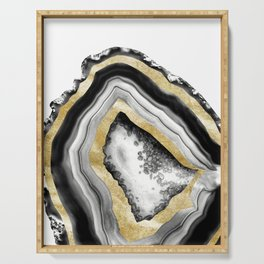 Agate Gold Foil Glam #1 #gem #decor #art #society6 Serving Tray