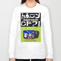 cowboy bebop Long Sleeve T-shirts featuring Don't Chug Soy Sauce - Chuggalo Bebop by How Much Can You Chug Foo?!