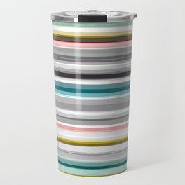 grey and colored stripes Travel Mug