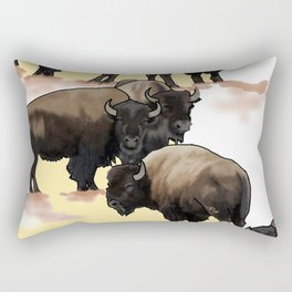 Roaming the Plains Rectangular Pillow
