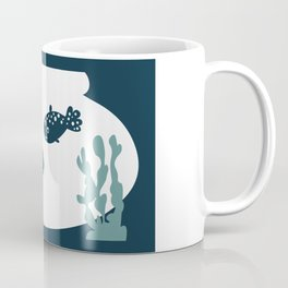 Two friendly fish together in a bowl - graphic Coffee Mug