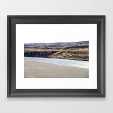 In the middle of nowhere, Iceland Framed Art Print