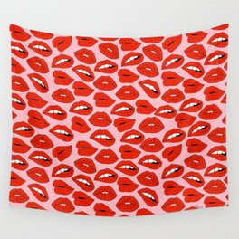 Lips Wall Tapestry