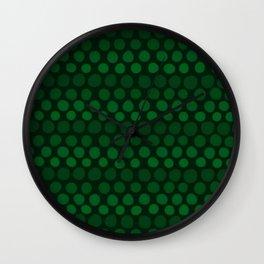 Emerald Green Subtle Gradient Dots Wall Clock