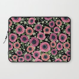 Anemone Floral 2018 by Magenta Rose Designs Laptop Sleeve