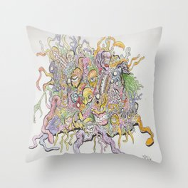 funky horror Throw Pillow