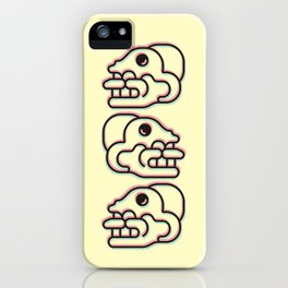 Monkey Skull - Aztec Glyph iPhone Case