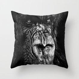 The Wise Simian Throw Pillow