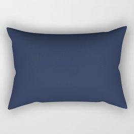Navy Blue Rectangular Pillow