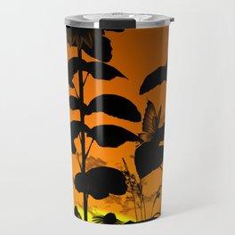 Sunflower in sunset Travel Mug
