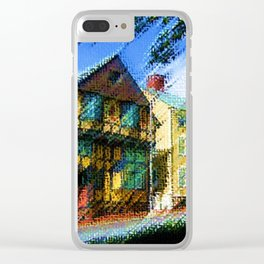 Fleur-de-Lys - H.P. Lovecraft novel home of Cthulhu oil on canvas - Providence, Rhode Island Clear iPhone Case