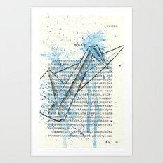 029 - Giant Blue Crane Art Print