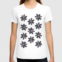 Sunflower Seeds Flower Pattern T-shirt