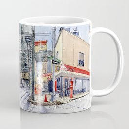 Under Brooklyn train beams Coffee Mug