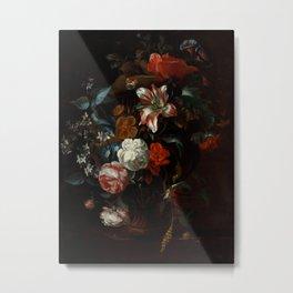 """Philip van Kouwenbergh """"Flowers in a Vase"""" Metal Print"""