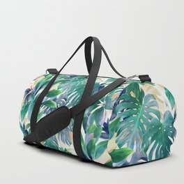 Golden Summer Tropical Emerald Jungle Duffle Bag