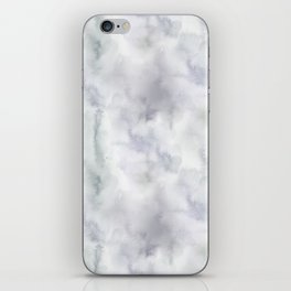 Abstract modern gray lavender watercolor pattern iPhone Skin