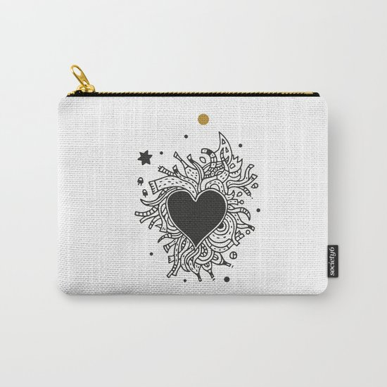 Black Heart Carry-All Pouch