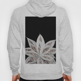 Gray Agave with Rose Gold Glitter #2 #shiny #tropical #decor #art #society6 Hoody