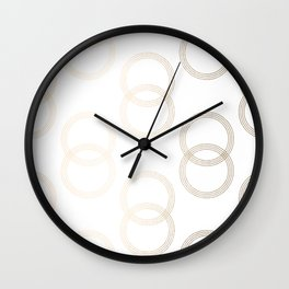 Simply Infinity Link in White Gold Sands on White Wall Clock