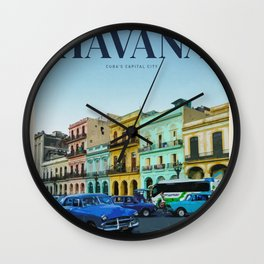 Visit Havana  Wall Clock