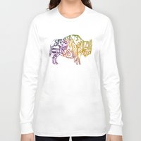 bison Long Sleeve T-shirts featuring Bison. by Stefani Reeder