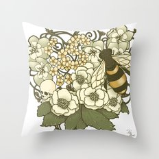 Apis Calvaria Throw Pillow