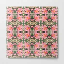 Pink Flower Pattern Metal Print