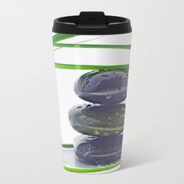 Waterdrops on Hot Stones Travel Mug