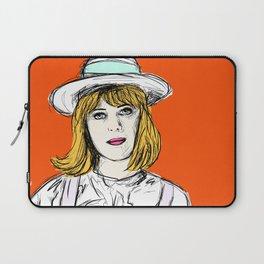 Pauline on Orange Laptop Sleeve