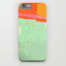 Infinity abstract art print pastel color iPhone Case