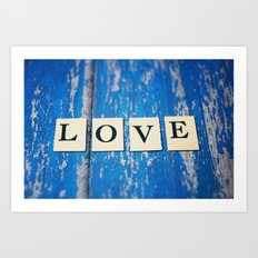 blue love Art Print