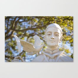 St. Gregory Statue Canvas Print