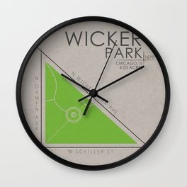 Chicago - Wicker Park Wall Clock