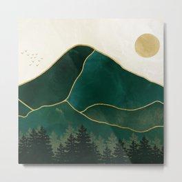 Mt Hood Emerald Mountain Abstract Metal Print