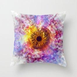 Cosmic Eye Galaxy Throw Pillow