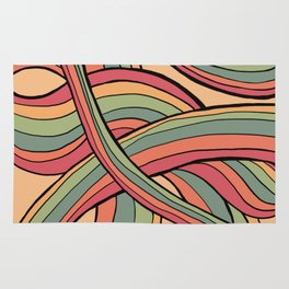 Rolling Waves Of Peachy Panic Rug