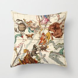 Gemini, Orion, Cancer, Taurus, Canis Major, Canis Minor And Other Constellations Throw Pillow