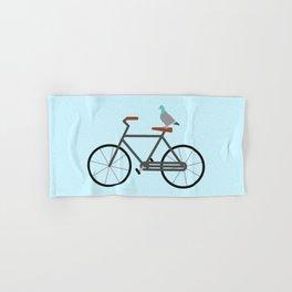 Pigeon Riding Bike Hand & Bath Towel