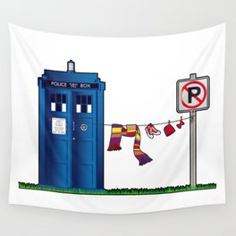 Doctor Who: tardis wardrobe  Wall Tapestry