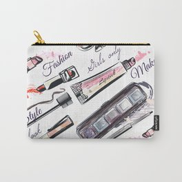 Fashion pattern with cosmetic in watercolor style Carry-All Pouch