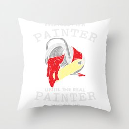 Painter Paintint Paintbrushes Color Gift Throw Pillow