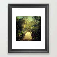 The Journey Starts With a Single Step Framed Art Print