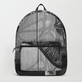 Skulls and Skating (Black and White) Backpack